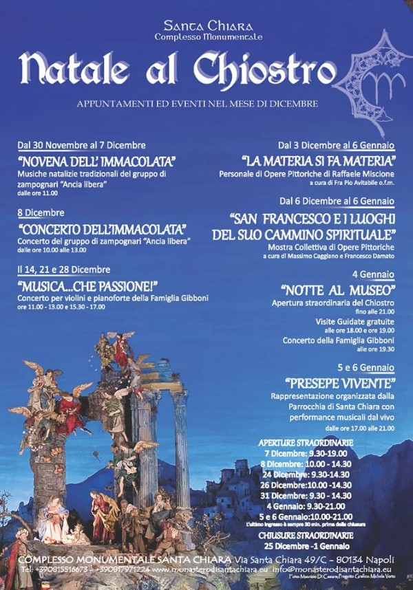NATALE AL CHIOSTRO - SANTA CHIARA (30.11.2013)